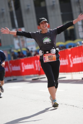 approaching the finish line. I threw my arms in the air.