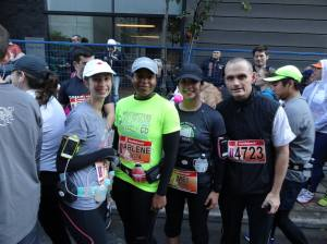 The four of us waiting for the marathon to start.