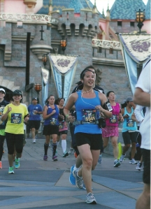 Running through Sleeping Beauty's Castle.