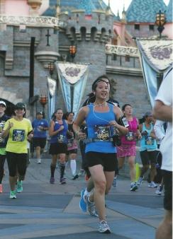 Running through Sleeping Beauty's Castle.