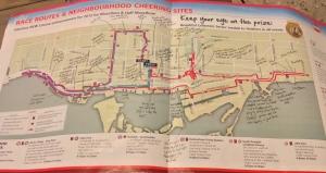 marathon course route with notes