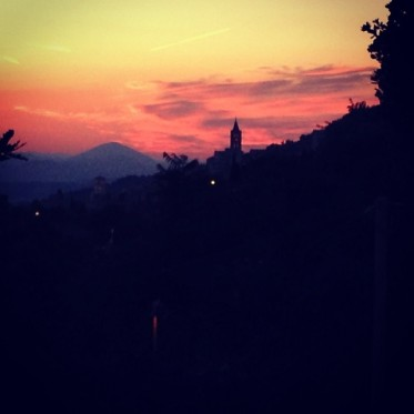 sunset in Assisi