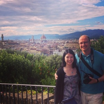 Mei and Dan in Florence.