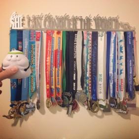 Mei's medal rack 2011-2014
