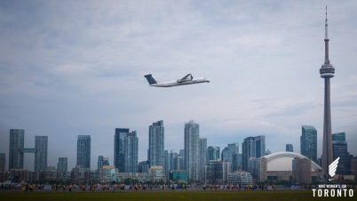 Billy Bishop Airport at the NIke Women's 15k Race