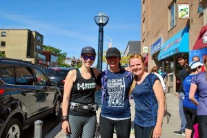 Me with @dohanley and @freshierundutty. Photo courtesy of Canada Running Series.
