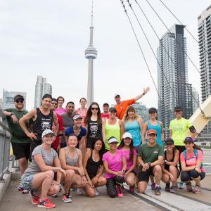 Another photo stop with the Digital Champions. This is the bridge that was featured on the Yonge St. 10k medal. Photo Courtesy of Canada Running Series.