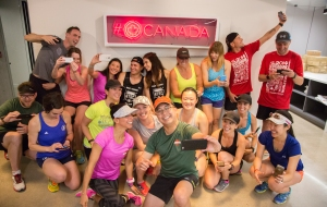 Selfies at Twitter. You know we had to! Photo courtesy of Canada Running Series.