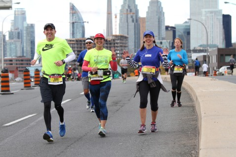 Brian, me and Dara running STWM. I'm so glad the photographer got a picture of us.