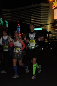 Running on the #stripatnight!
