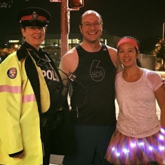 Dan, Mei and a police officer.